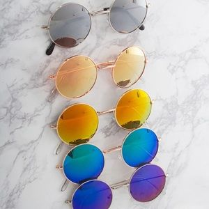 70s Style Round Circle Sunglasses